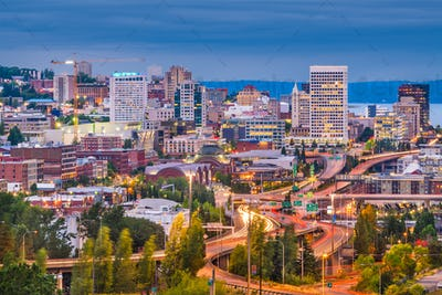 Tacoma, Washington, USA Skyline