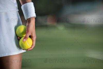 Tennis player in sportswear close-up