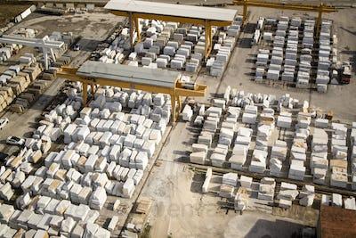 Deposit of marble blocks