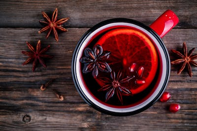 Spiced Pomegranate Apple Cider Mulled Wine Sangria