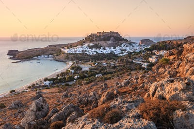Lindos Castle and village, Greece