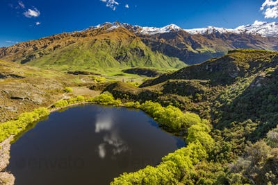 Diamond Lake in the Mt Aspiring National Park near Wanaka, New Z