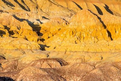 xinjiang colorful beach landform closeup