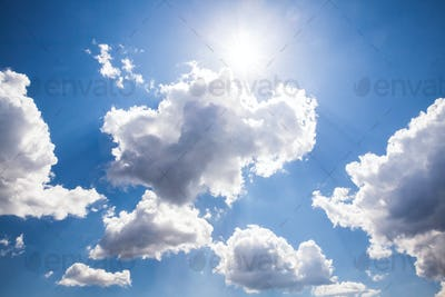 sunny sky background. Nature composition