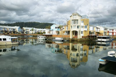 Cute houses in Knysna channel