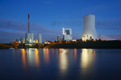 Power Stations At Night