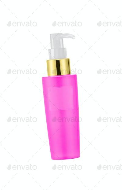 Bottle of liquid soap isolated on white