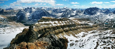 Panoramic view from Cirque peak, Banff national park