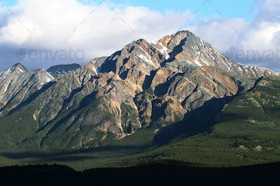 Majestic mountain views from Mount Edith Cavell road
