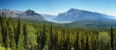 Lake Minnewanka panorama, Banff national park