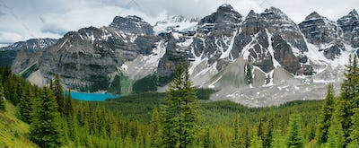 Lake Moraine view panorama, Banff national park