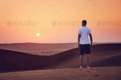 Sunrise in desert