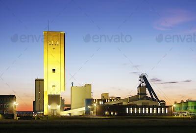Salt Mine At Night