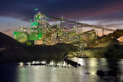 Gravel Plant At Night