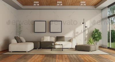 Living room in a modern villa