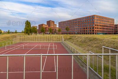Public Tennis field near offices