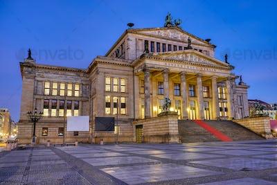 The Konzerthaus at the Gendarmenmarkt in Berlin