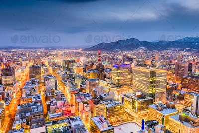 Sapporo, Japan City Skyline