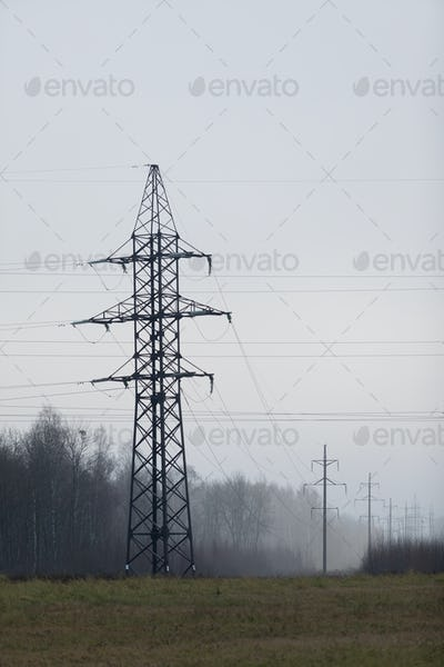 Power industry. Industrial landscape