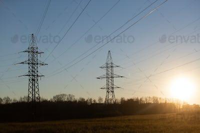 Industrial landscape. Power industrial