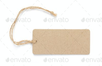tag price label isolated on white