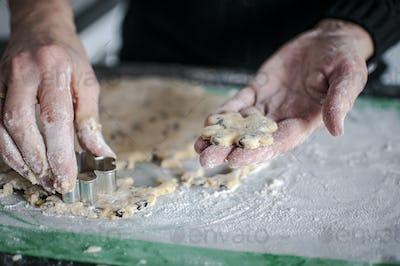 Handmade cake and cookies for a sweet Christmas