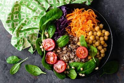 Healthy vegetarian dish, vegetable salad