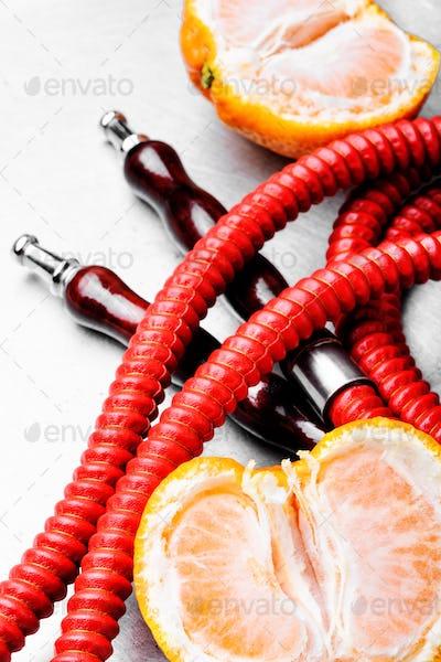 Arabian hookah with aroma tangerine