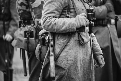 German Military Ammunition Of A German Wehrmacht Soldier At Worl