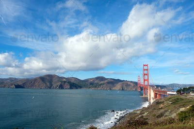 Famous Golden Gate Bridge, San Francisco USA