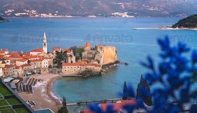 Budva town in summer