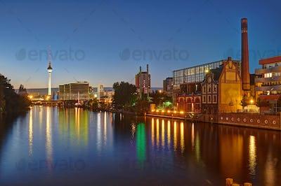 The River Spree in Berlin at night