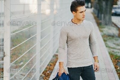 stylish guy in the city