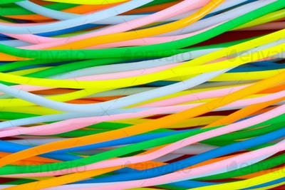 Colourful plastic cables