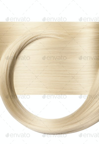 Closeup on luxurious glossy blonde hair