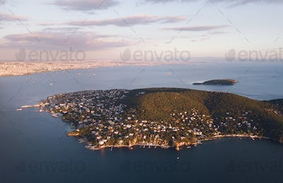 view of prince island in istanbul Turkey