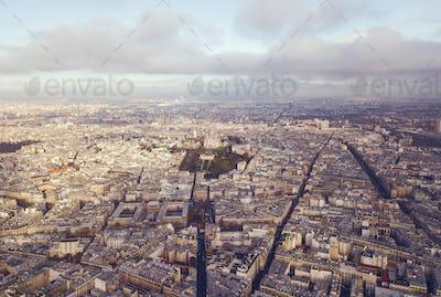 aerial view of sacre coeur in paris france