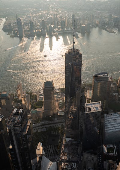 Overlooking Freedom Tower in New York City