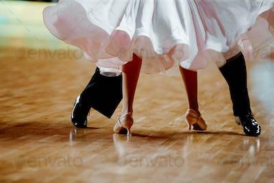 legs partner dancers man and woman