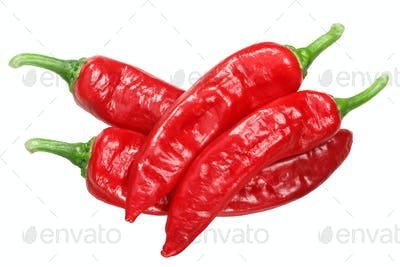 Aleppo or halaby pepper, whole pods, top