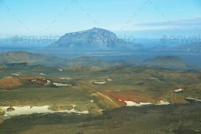 Aerial view of Herdubreid mountain