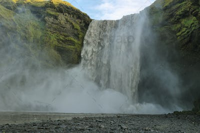 Skogarfoss waterfall, Iceland.