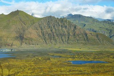 Skaftafellsjokull glacier moraine
