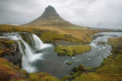 Kirkjufellsfoss on Snaefellsnes Peninsula