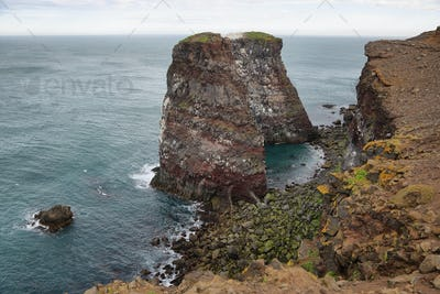 Cliffs in Raudinupur, northeast of Iceland.