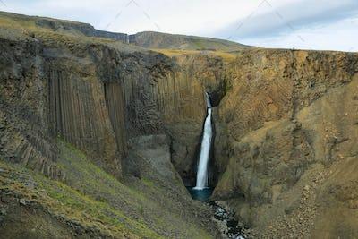Litlanesfoss waterfall