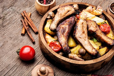 Delicious roasted ribs