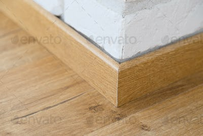 Wooden floor plinth