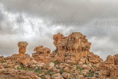 Rock formations at Truitjieskraal in the Cederberg Mountains