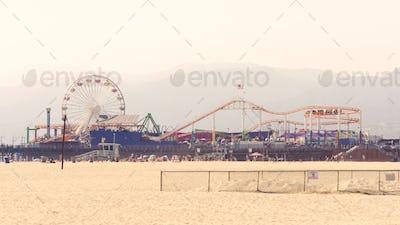 Attractions Park in Santa Monica Beach